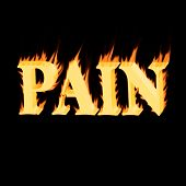 stock photo of gout  - alphabetic representation of burning pain in neuropathic pain or trauma - JPG