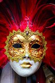 foto of venice carnival  - Traditional carnival mask close - JPG