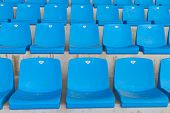 picture of grandstand  - Empty Seats in a Grandstand in Istanbul - JPG