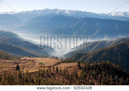 Landscape Scenery Around Jumla Village From Daphe Lagna Pass - Western Nepal