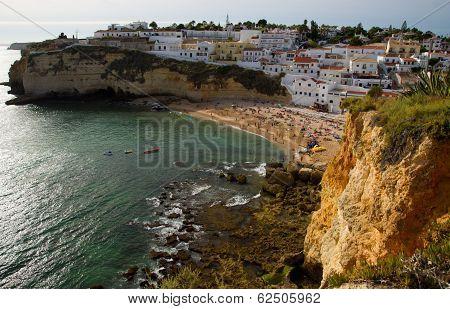 Carvoeiro In The Algarve In Portugal