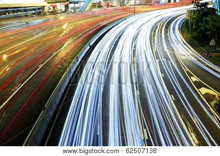 Busy traffic on highway