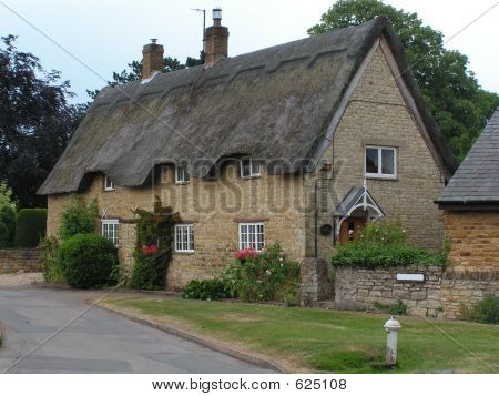 An English Village Thatched House