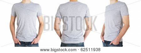 Three Man In Gray T-shirt