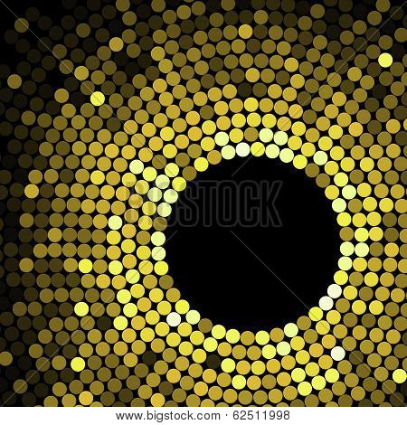 Geometric pattern of gold circles or dots