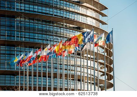 European Parliament frontal Flags