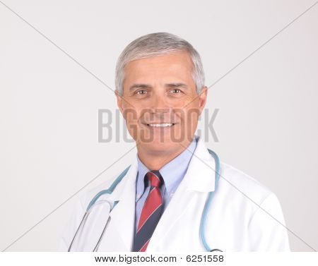 Portrait Of Middle Aged Male Doctor