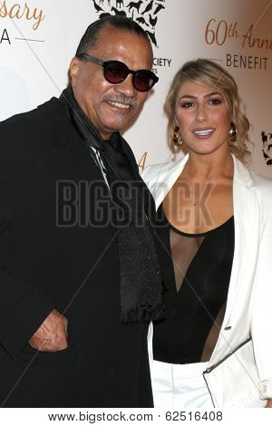 LOS ANGELES - MAR 29:  Billy Dee Williams, Emma Slater at the Humane Society Of The United States 60th Anniversary Gala at Beverly Hilton Hotel on March 29, 2014 in Beverly Hills, CA