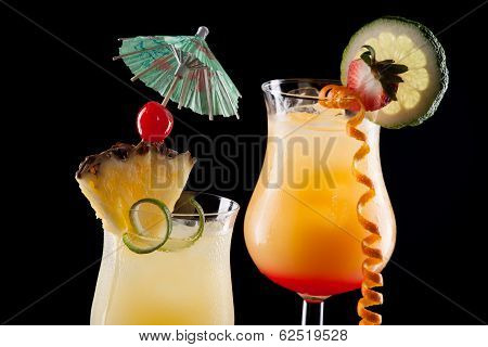 Tequila Sunrise, And Bahama Mama Cocktails - Most Popular Cocktails Series