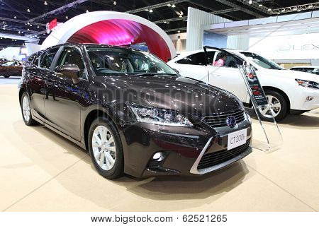 Nonthaburi - March 25: Lexus Ct 200H Car On Display At The 35Th Bangkok International Motor Show On