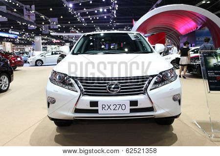 Nonthaburi - March 25: Lexus Rx 270 Car On Display At The 35Th Bangkok International Motor Show On M