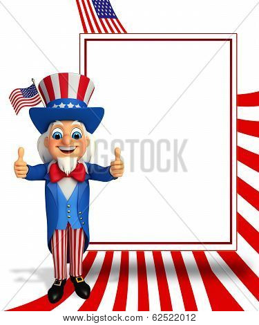 Uncle Sam with best sign