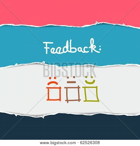 Vector Torn Paper Feedback Background