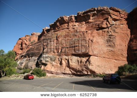 Wyoming Scenery - Red Rock Formation