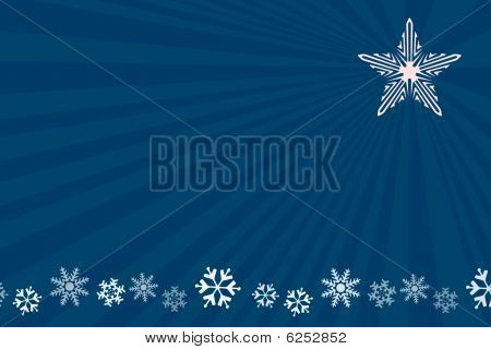 Snowflake Christmas Blue Star