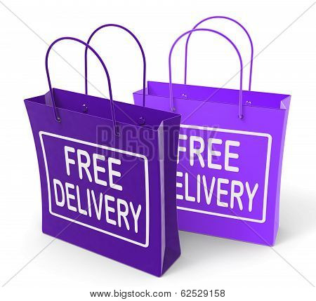 Free Delivery Sign On Bags Show No Charge To Deliver