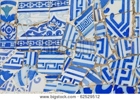 Ceramic Mosaic Background.