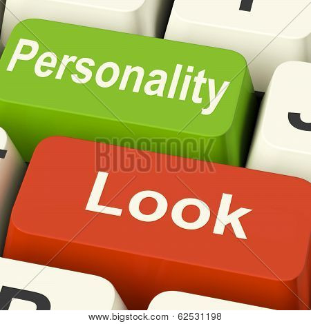 Look Personality Keys Shows Character Or Superficial