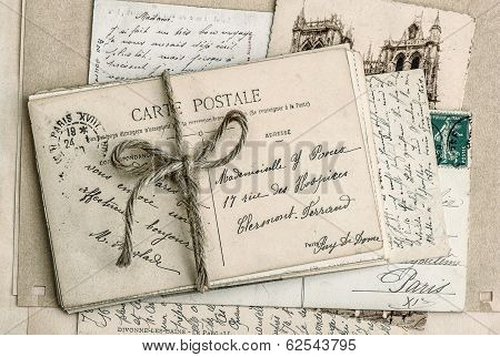 Old Letters And Antique French Postcards