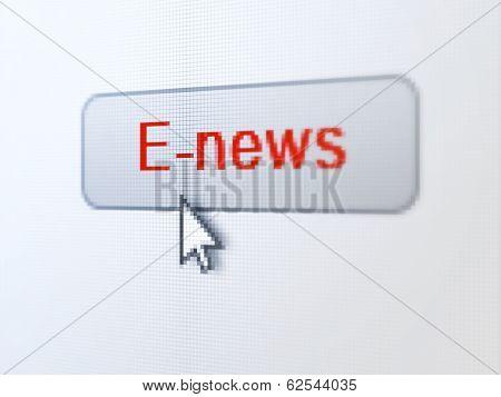 News concept: E-news on digital button background
