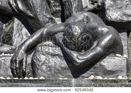 Detail Of Ghetto Heroes Memorial, Warsaw