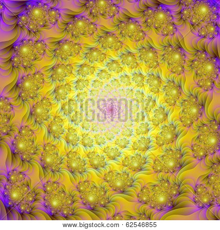 Spiral Of Spirals In Yellow And Pink