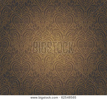 dark brown vintage seamless design