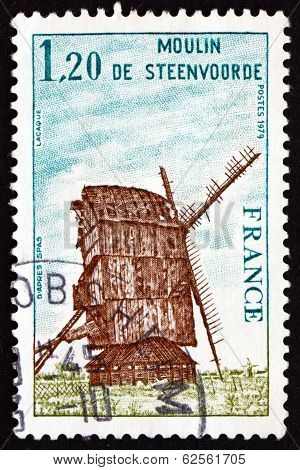 Postage Stamp France 1979 Steenvoorde Windmill