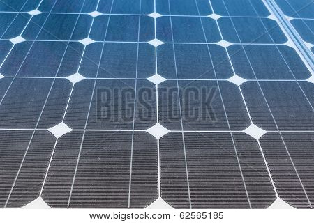 Solar Panels Produce Power, Green Energy Concept