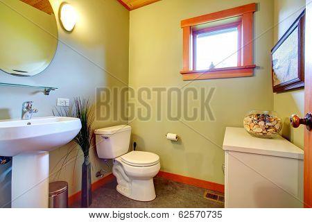 Cozy Light Olive Bathroom