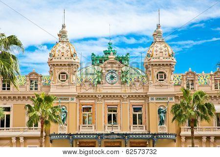 Beautiful architcture of the Grand Casino in Monte Carlo, Monaco.