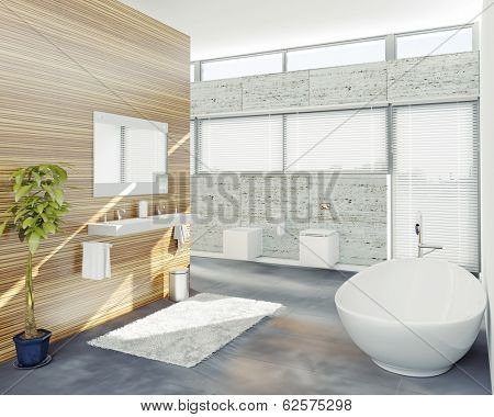 modern bathroom design (3D concept)