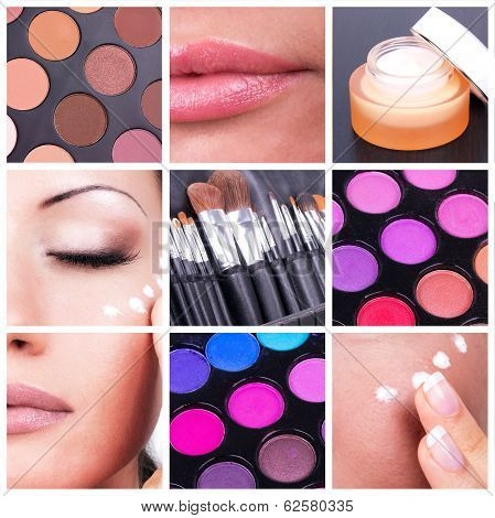 Bodycare And Make-up Collage