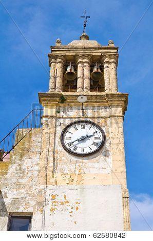 Clocktower. Montescaglioso. Basilicata. Italy.