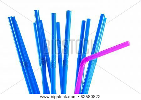 Blue And Pink Straws