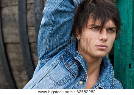young man in a jeans