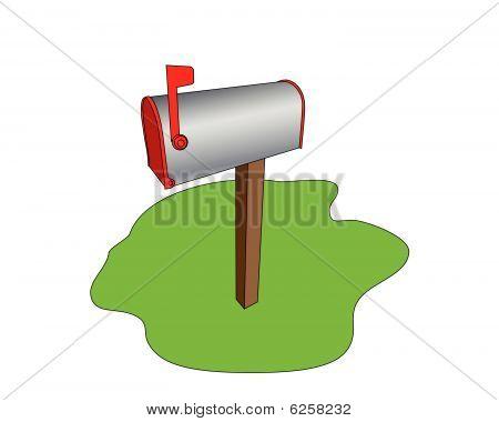Mailbox On The Grass