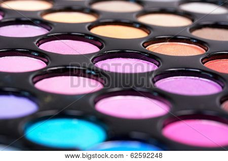 Closed-up Proffesional Eyeshadows