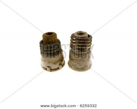 Two Ceramic Electric Fuse