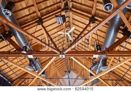 Timber House Ceiling Duct Lighting Installation