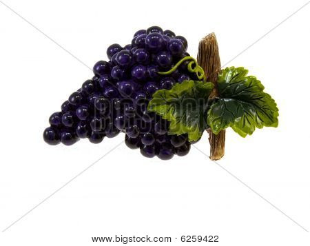 Plaster Figurine Of Dark Blue Grapes
