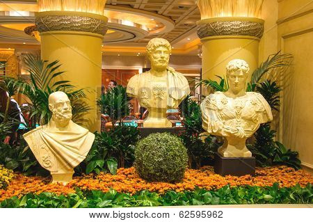 Statues In Caesar's Palace In Las Vegas
