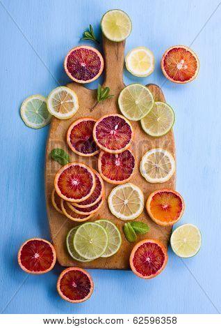 Cut Citrus Fom Above