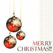 stock photo of christmas cards  - christmas balls - JPG