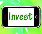 Invest Smartphone Shows Internet Investment And Returns