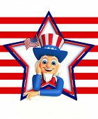 stock photo of uncle  - 3d rendered illustration of uncle sam isolated on the white background - JPG