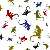 Vector seamless pattern with lizards