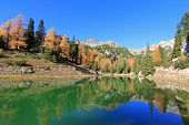 Beautiful Lake at Rofan Gebirge during Autumn season in Eben am Achensee, Austria