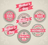 image of i love you mom  - set calligraphic emblems dedicated to Mother - JPG