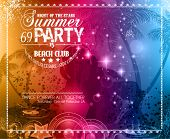 stock photo of club party  - Summer Party Flyer for Music Club events for latin dance - JPG